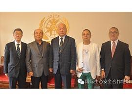 全球岛国生态联盟主席松崎裕史到访国际生态安全合作组织